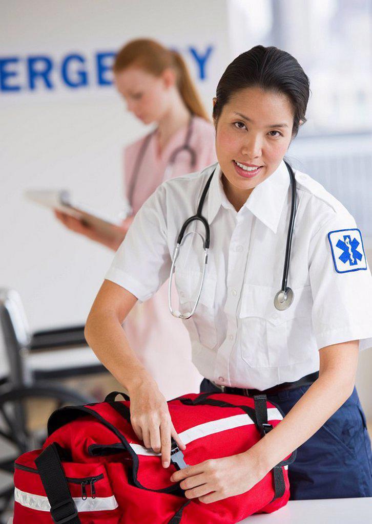Stock Photo: 1795R-25228 Paramedic
