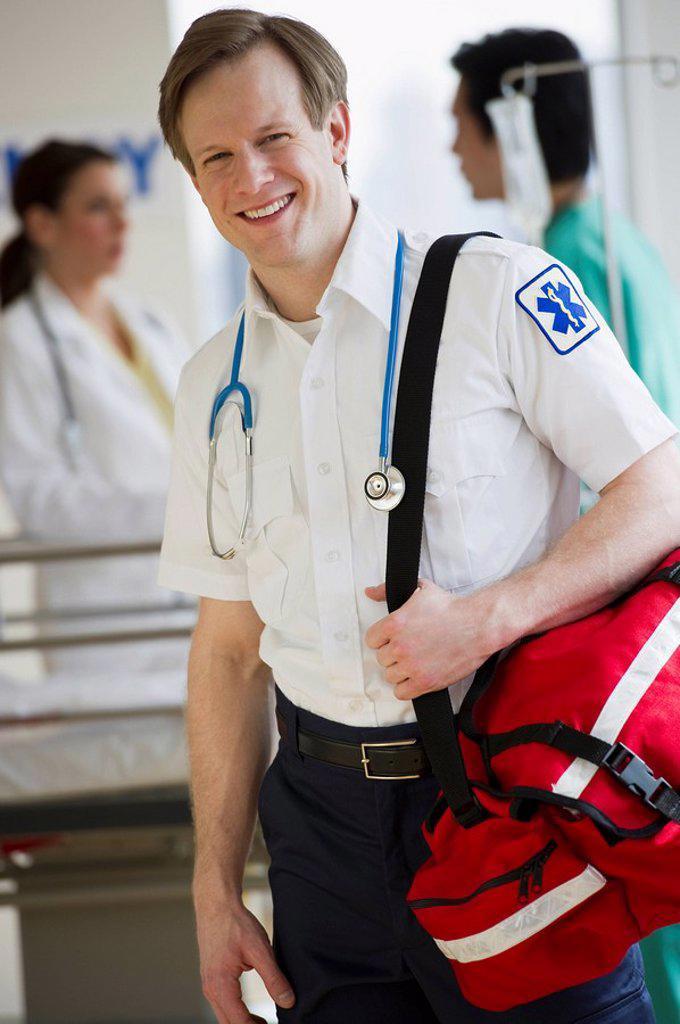 Stock Photo: 1795R-25246 Paramedic