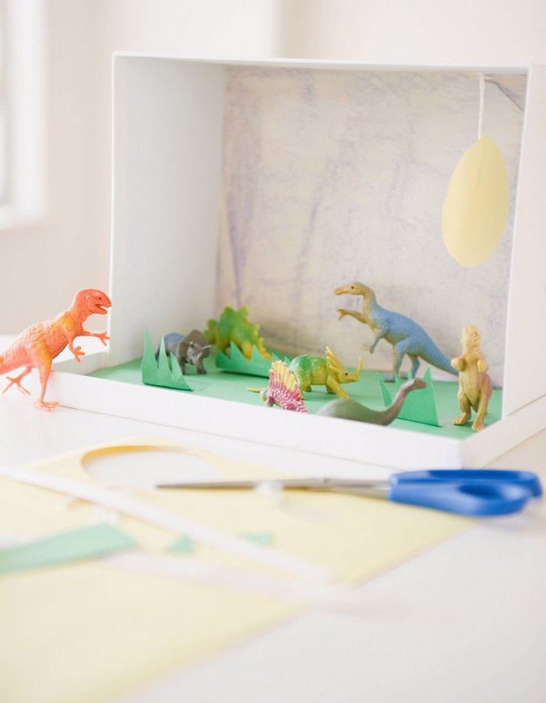 Child´s dinosaur project : Stock Photo