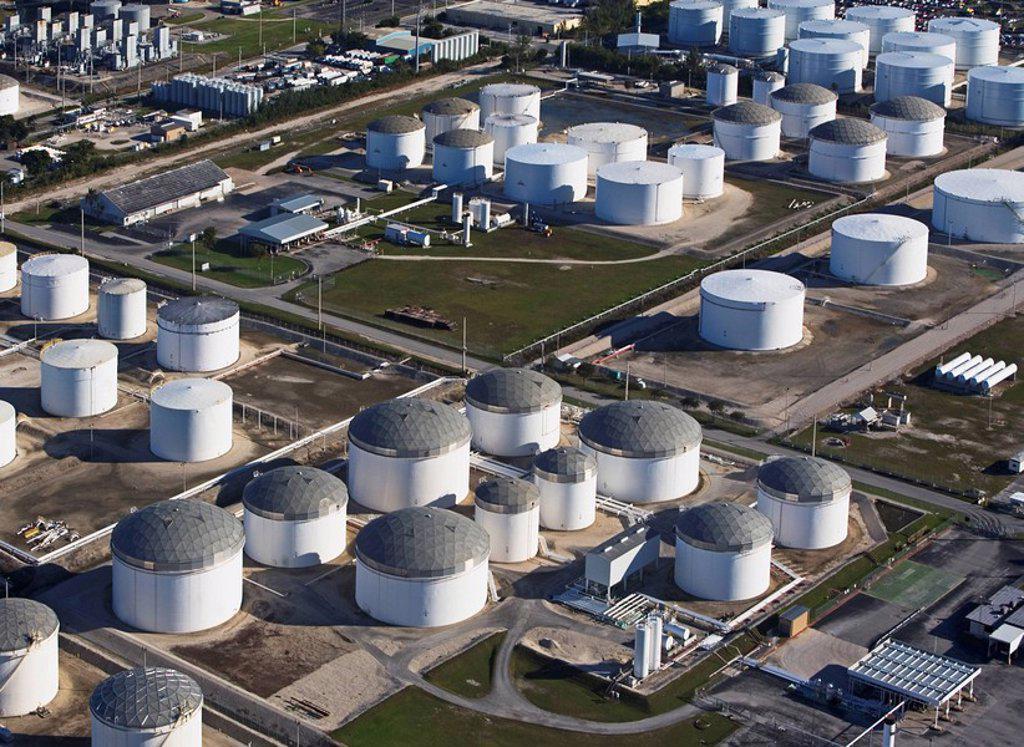 Oil tanks : Stock Photo