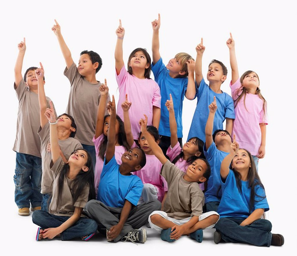 Stock Photo: 1795R-26283 Portrait of a group of children