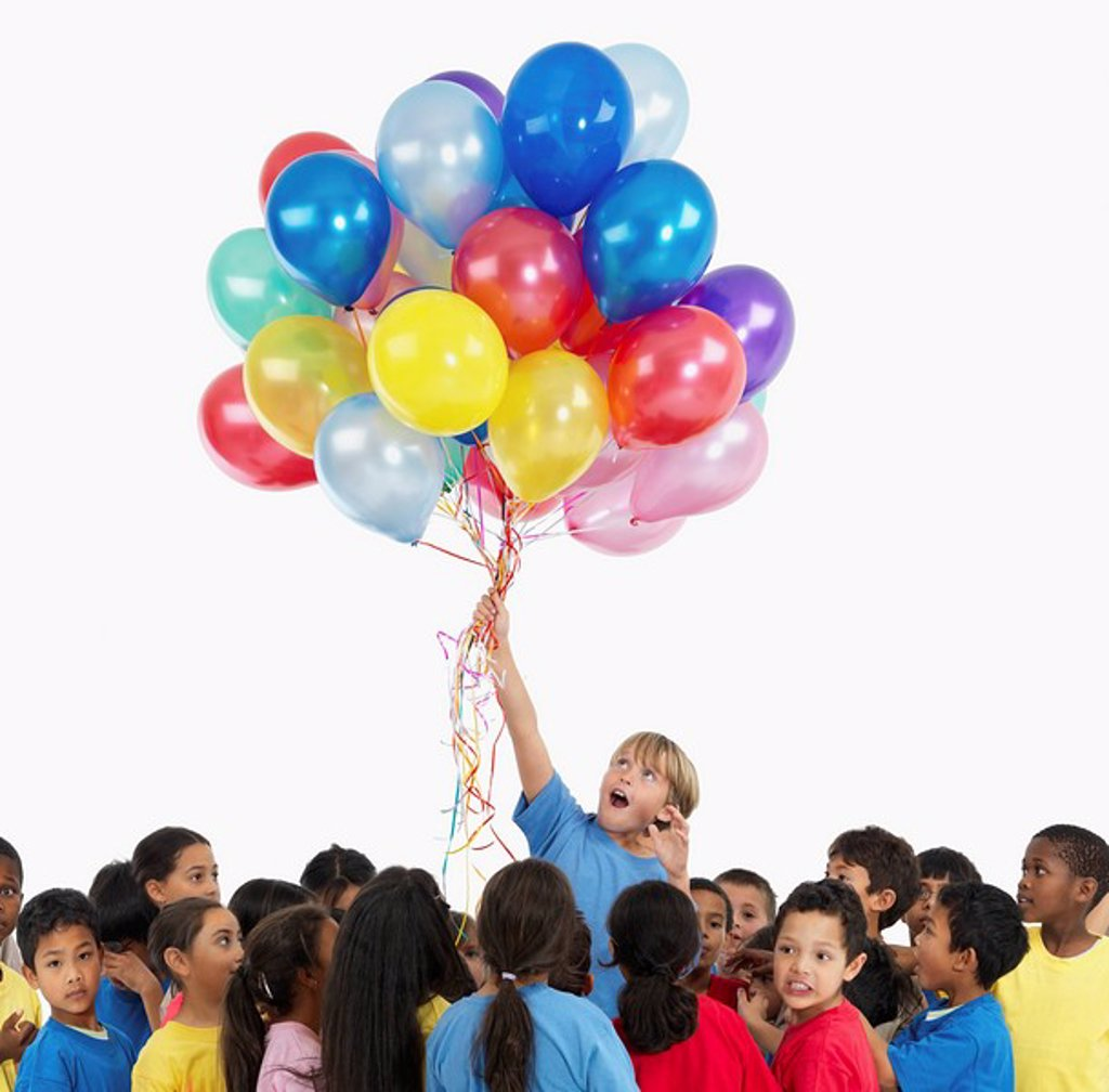 Children and balloons : Stock Photo