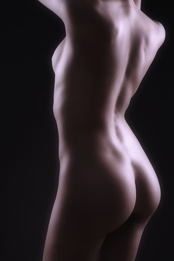 Closeup of nude female torso  : Stock Photo