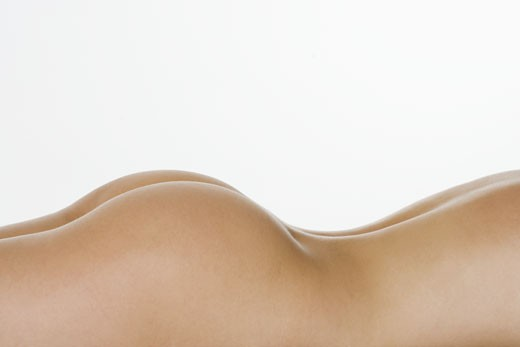 Stock Photo: 1795R-2668 Closeup of nude female posterior