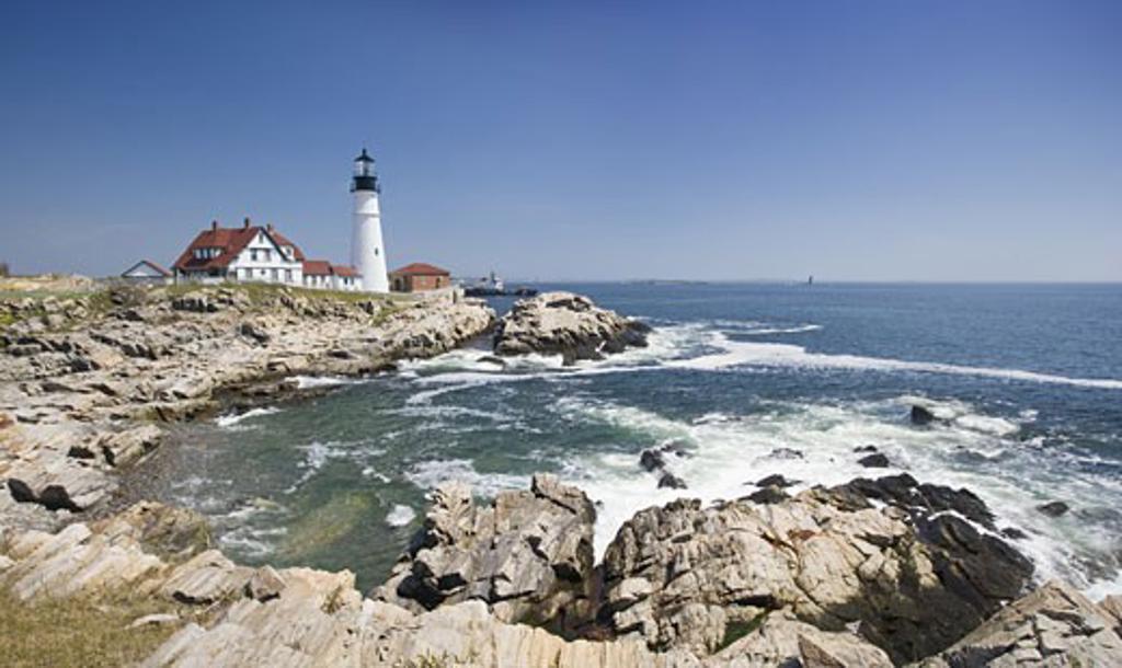 Stock Photo: 1795R-2729 Portland Head Lighthouse Cape Elizabeth Maine