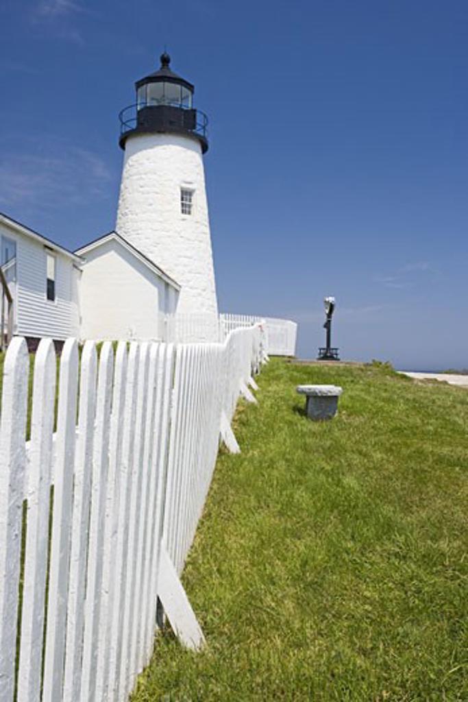 Stock Photo: 1795R-2733 Pemaquid Point Lighthouse Maine