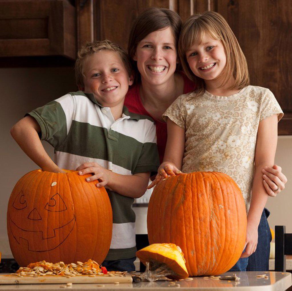 Pumpkin carving : Stock Photo