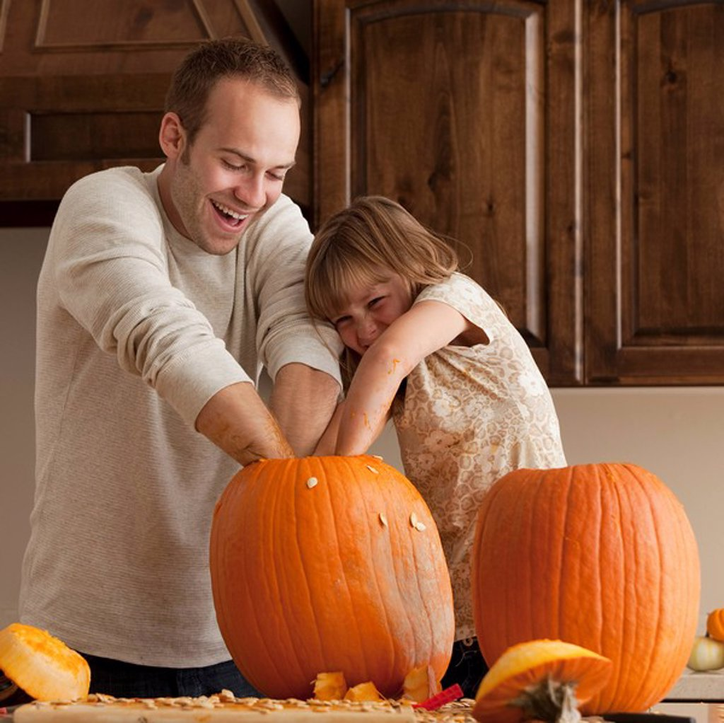 Pumpkin carving : Stock Photo