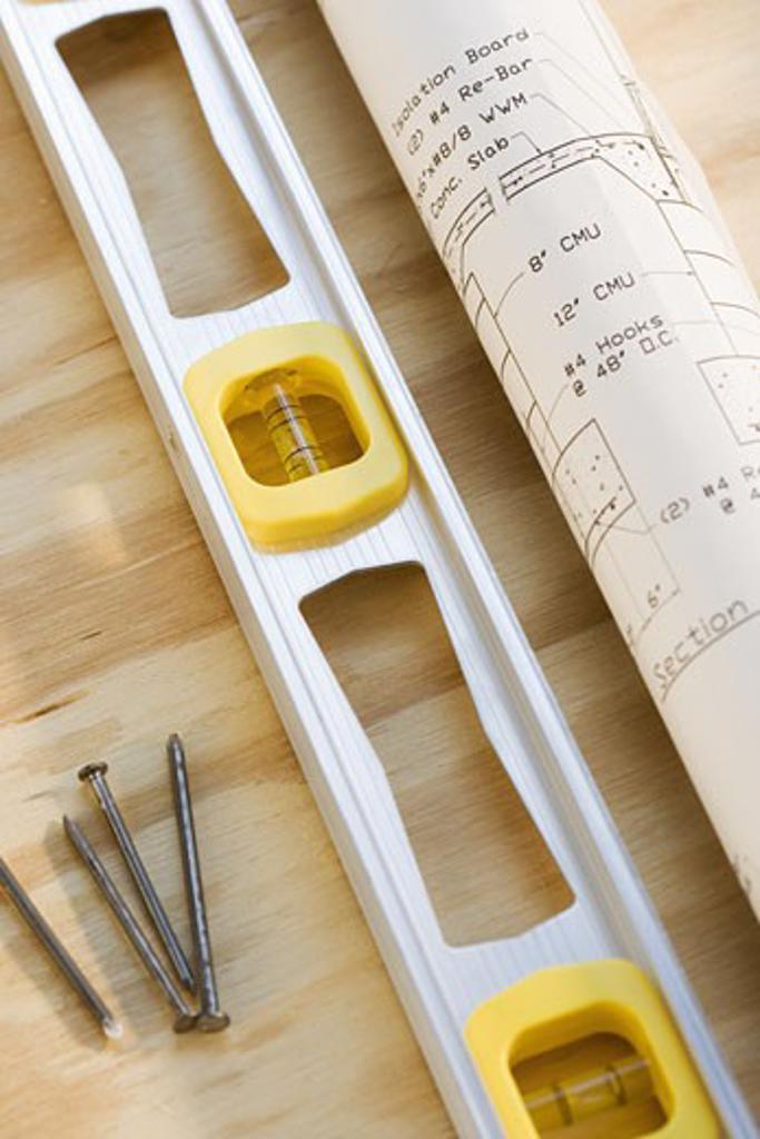 Still life of carpentry tools : Stock Photo