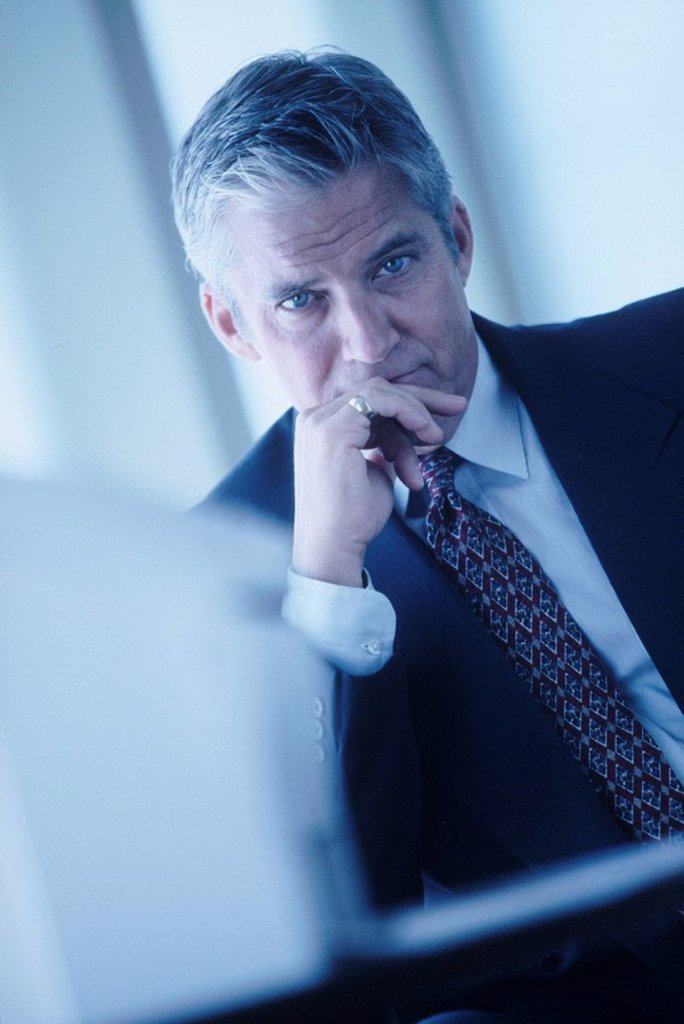 Stock Photo: 1795R-28382 Serious businessman