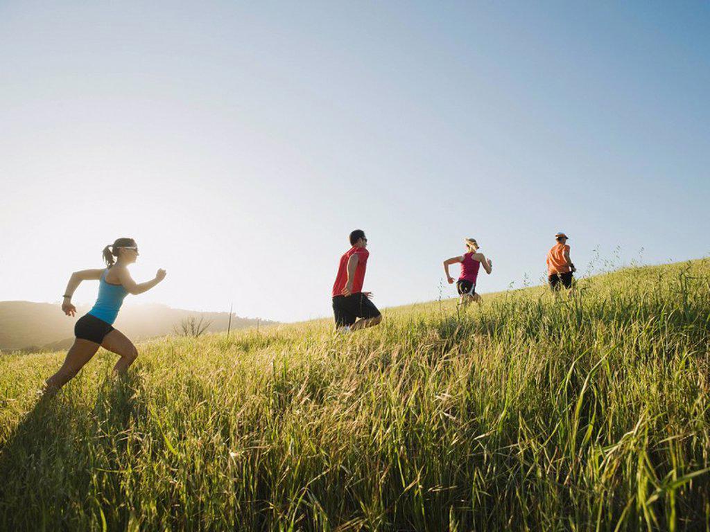 Trail running : Stock Photo