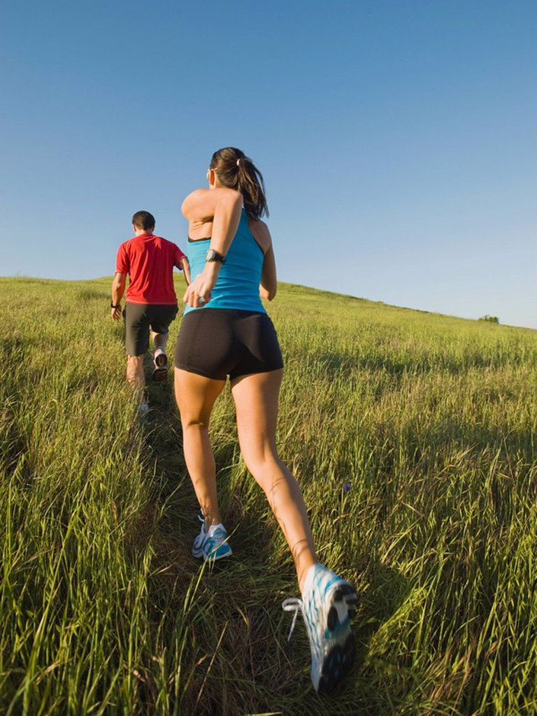 Trail running : Stock Photo