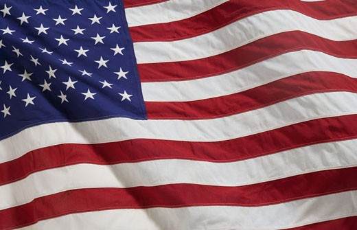 Stock Photo: 1795R-2933 Closeup of the American flag