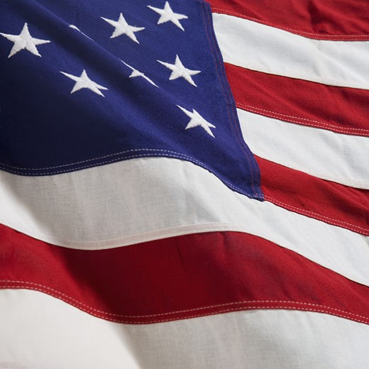 Stock Photo: 1795R-2936 Closeup of American flag