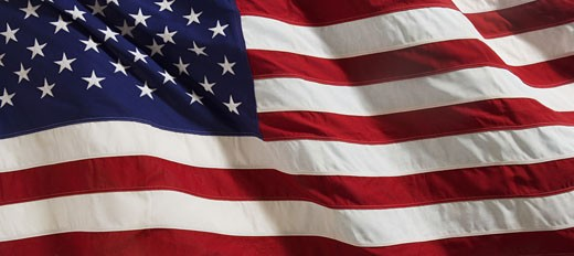 Stock Photo: 1795R-2937 Closeup of American flag