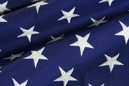 Stock Photo: 1795R-2943 Closeup of stars on American flag