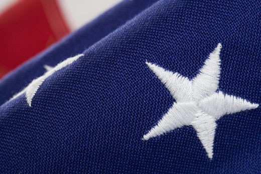 Closeup of star on American flag : Stock Photo