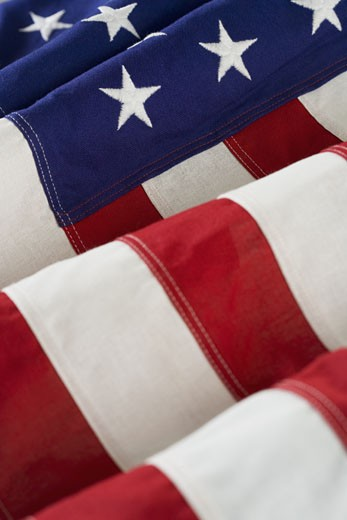 Stock Photo: 1795R-2947 Folds of American flag