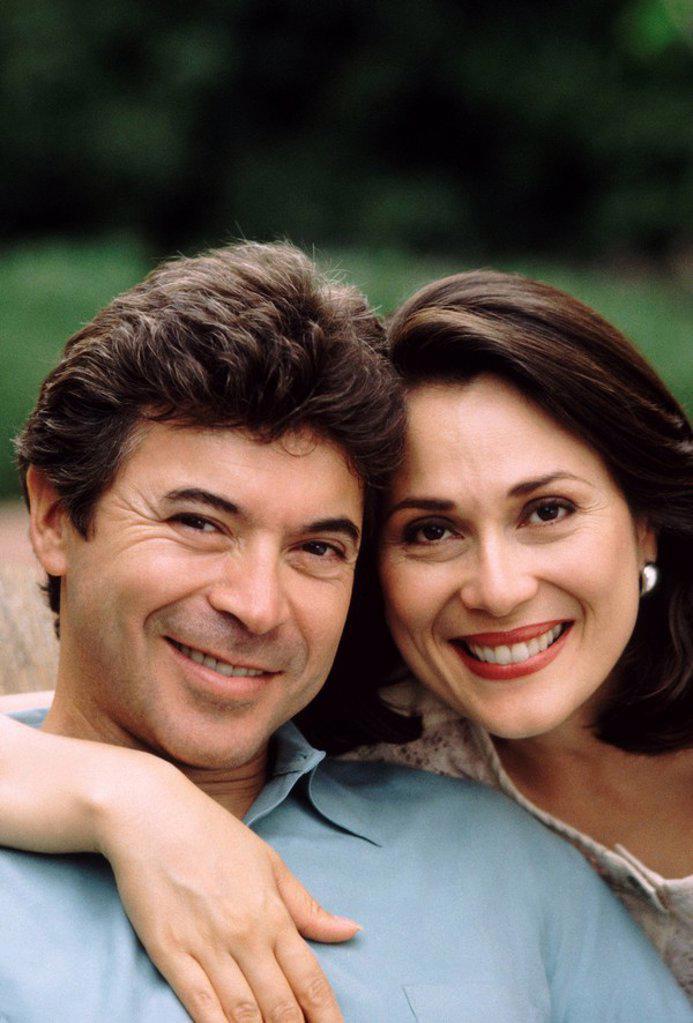 Portrait of a happy couple : Stock Photo