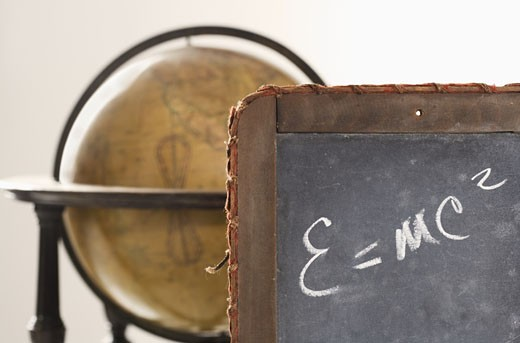 Stock Photo: 1795R-2970 Still life of Einstein's law of relativity