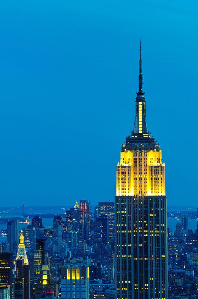 Empire State building at sunset : Stock Photo