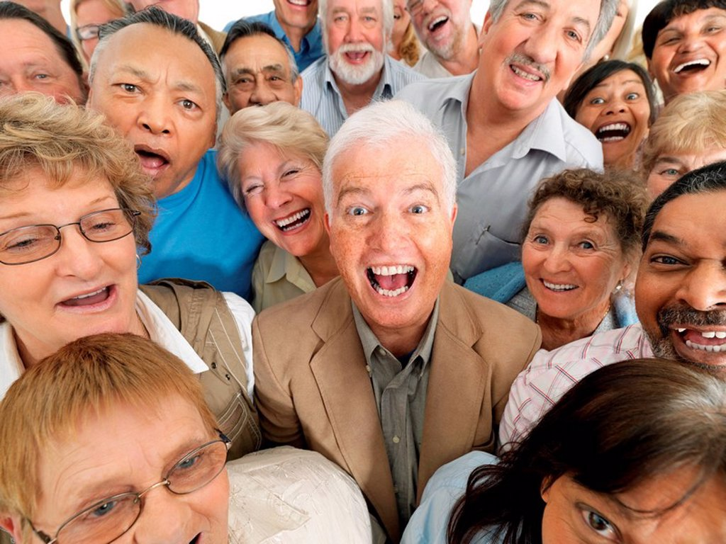 Stock Photo: 1795R-30344 A group of laughing people