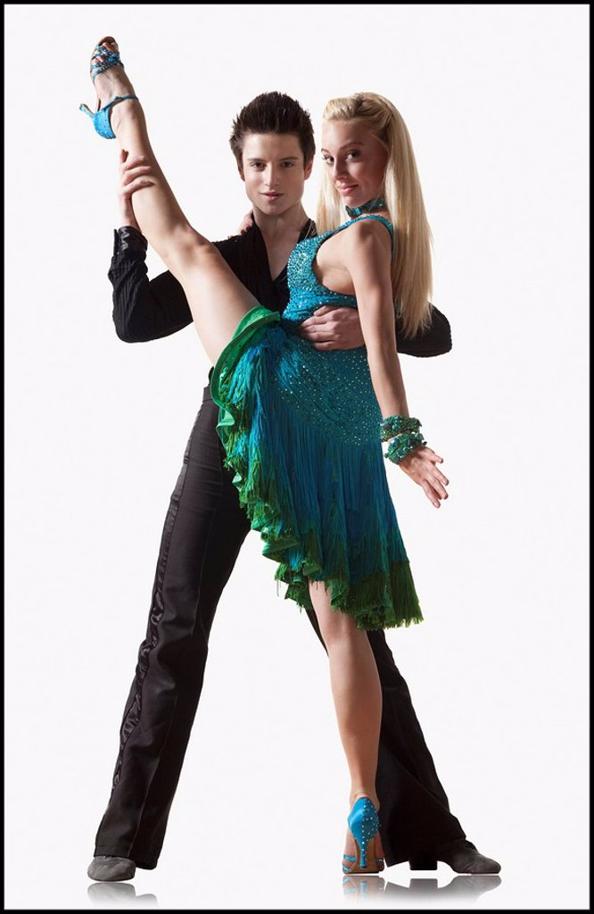 Couple performing ballroom dance : Stock Photo