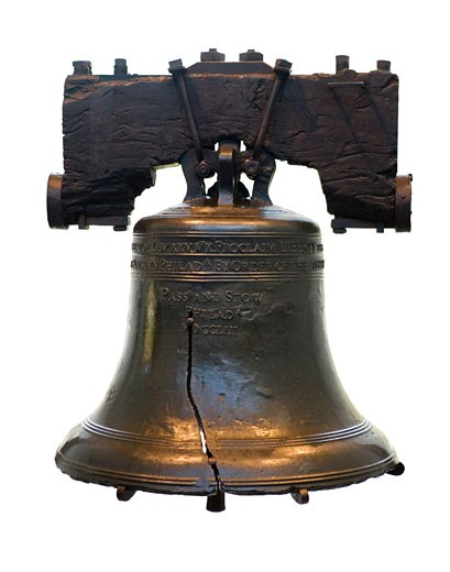Stock Photo: 1795R-3062 Still life of Liberty Bell