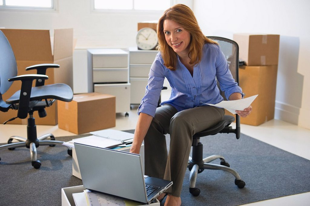 Business entrepreneur working in startup office : Stock Photo