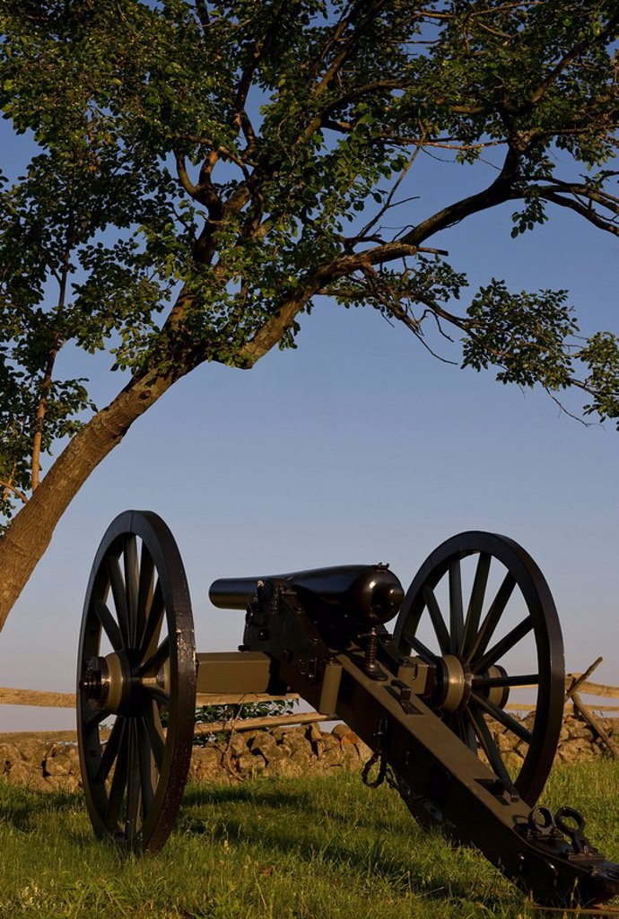 Civil war cannon : Stock Photo