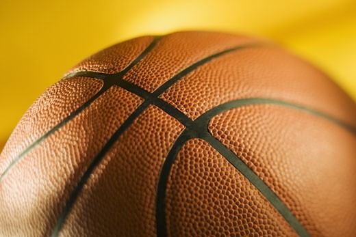 Stock Photo: 1795R-3133 Closeup of a basketball