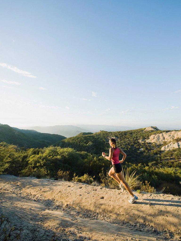 Stock Photo: 1795R-32061 Trail runner