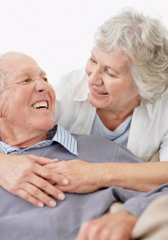 Stock Photo: 1795R-32237 Affectionate senior couple