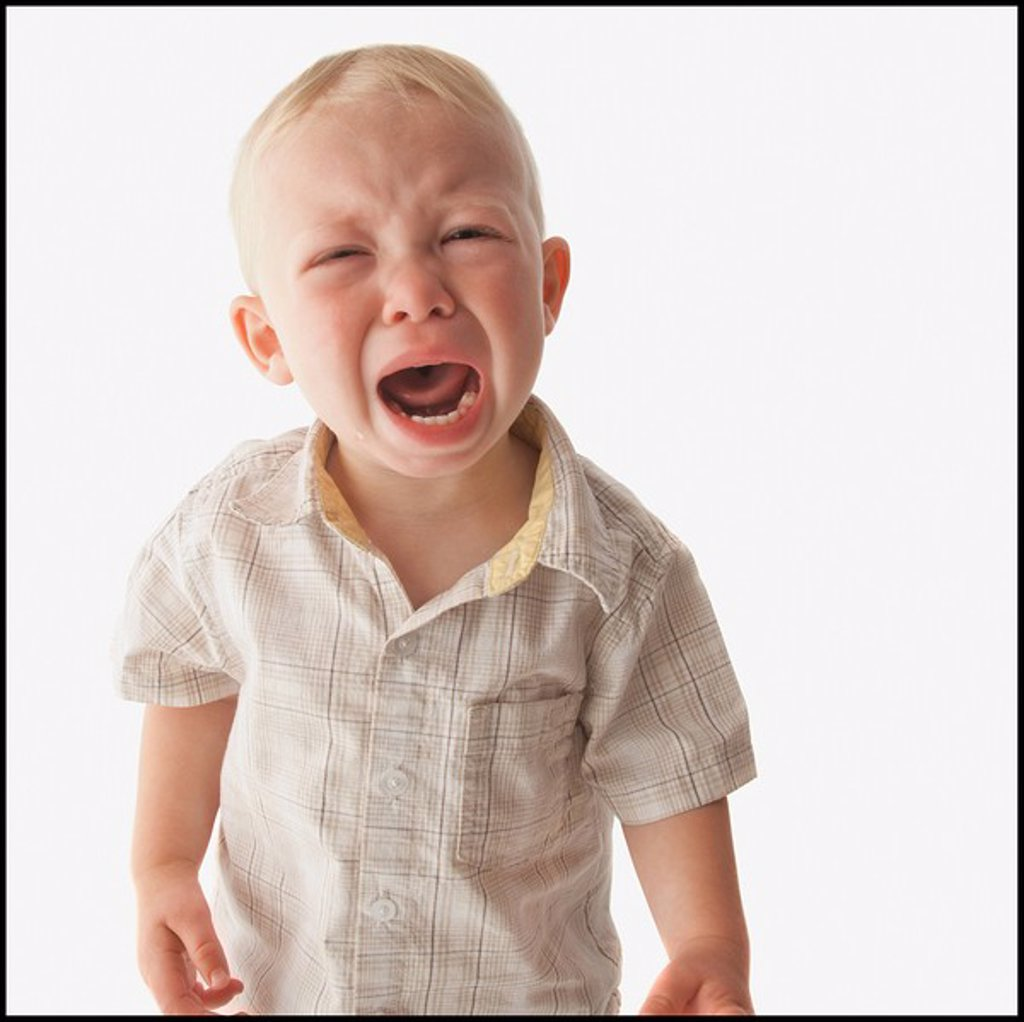 Stock Photo: 1795R-32338 Crying toddler
