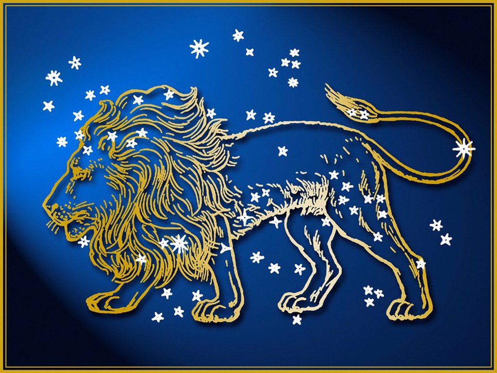 Stock Photo: 1795R-32531 Leo astrological sign