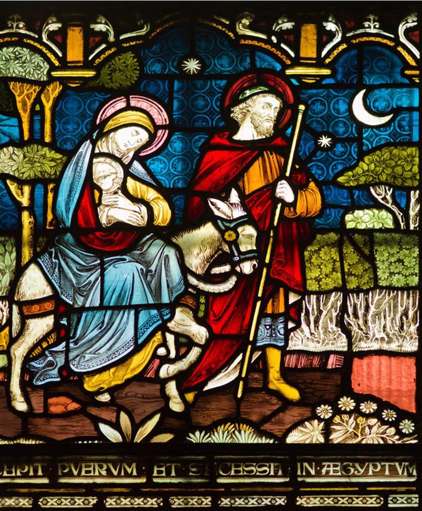 Stock Photo: 1795R-32556 Stained glass window in Christ Church Cathedral