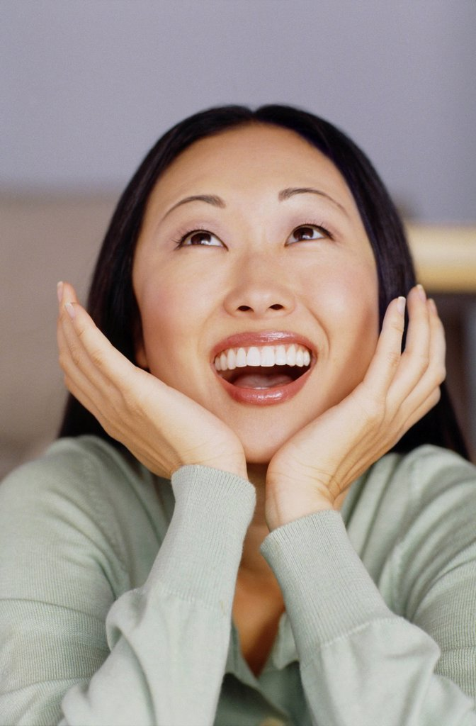 Stock Photo: 1795R-34582 Delighted woman