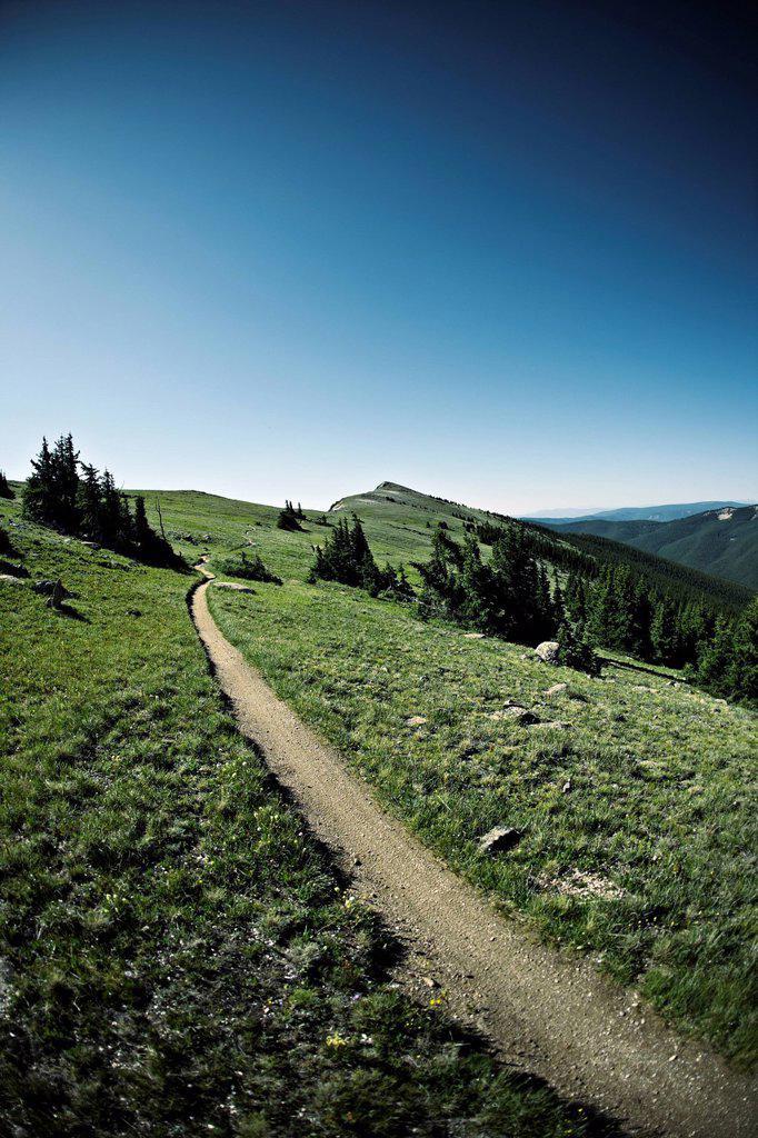 Track through mountains : Stock Photo