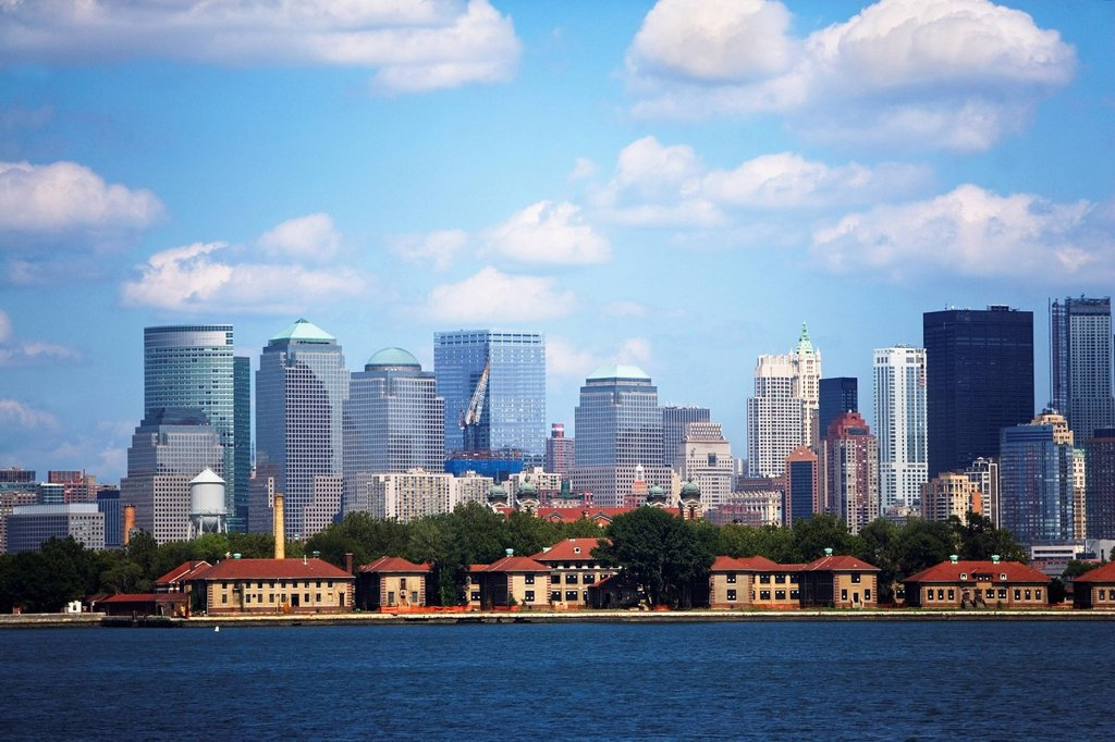 USA, New York State, New York City, Skyline of Lower Manhattan : Stock Photo