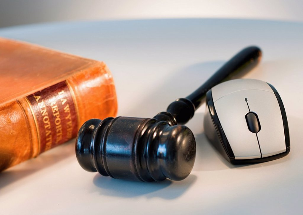 Stock Photo: 1795R-36230 Computer mouse and gavel