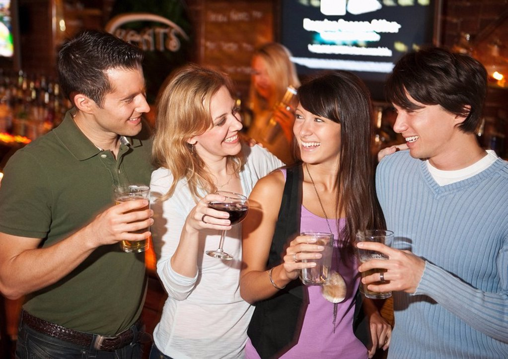 Friends at bar : Stock Photo
