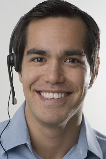 Male customer service representative : Stock Photo