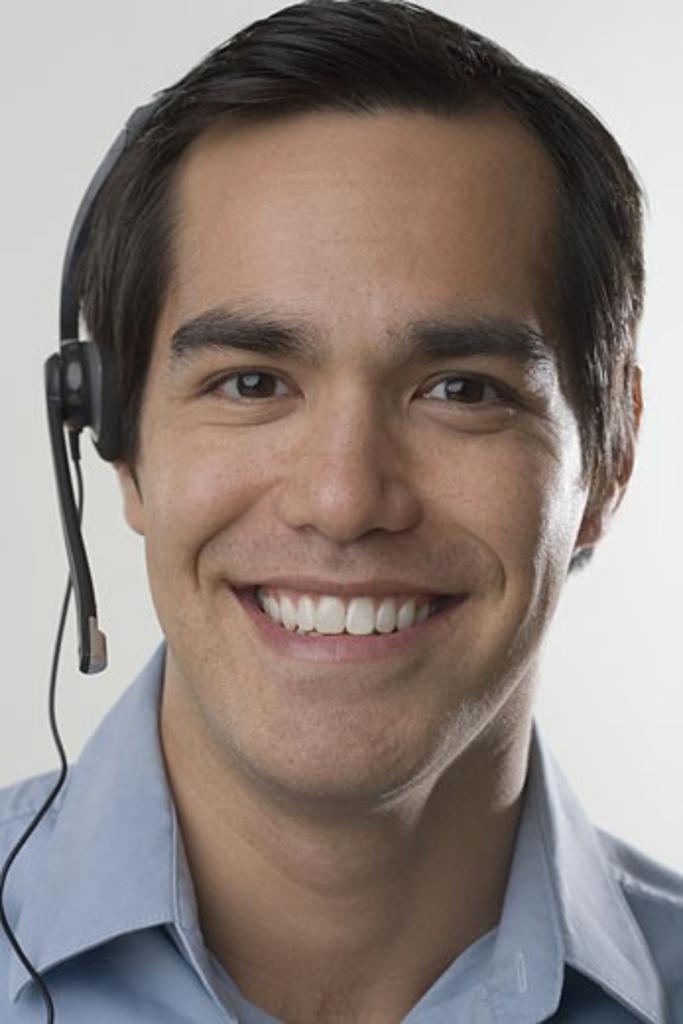 Stock Photo: 1795R-3696 Male customer service representative