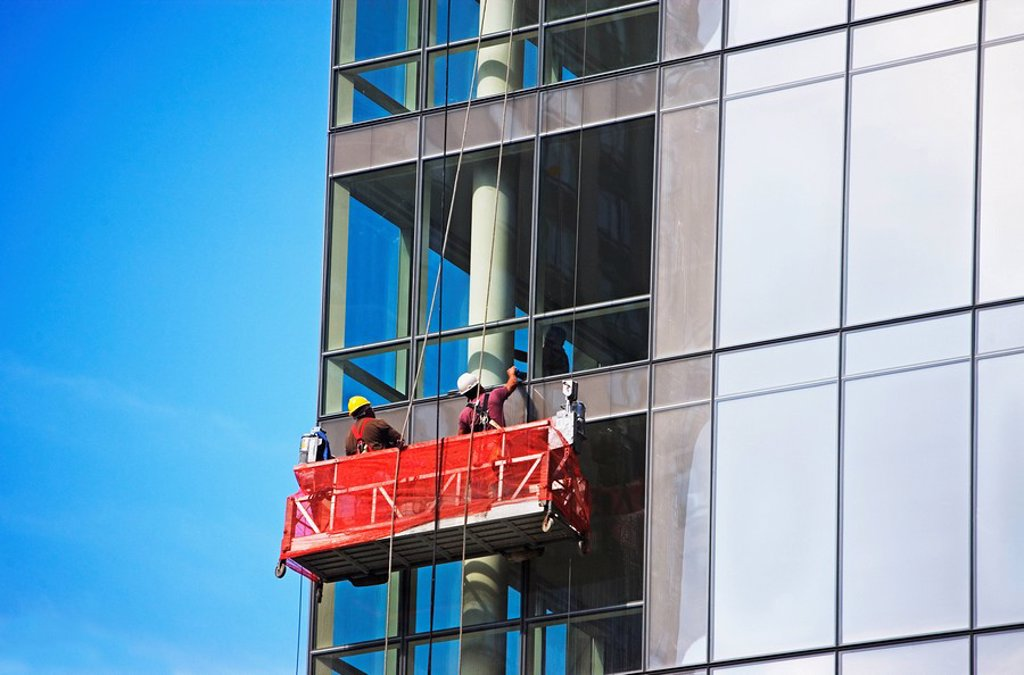 Window cleaners : Stock Photo