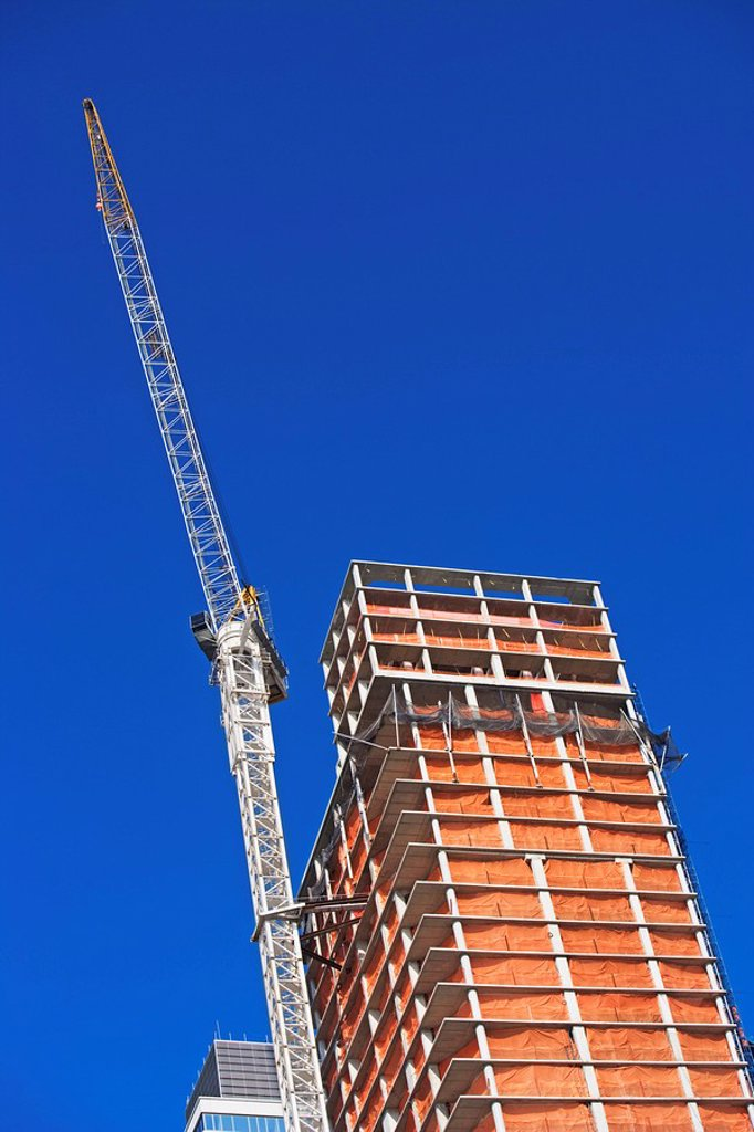 Stock Photo: 1795R-37215 Building under construction