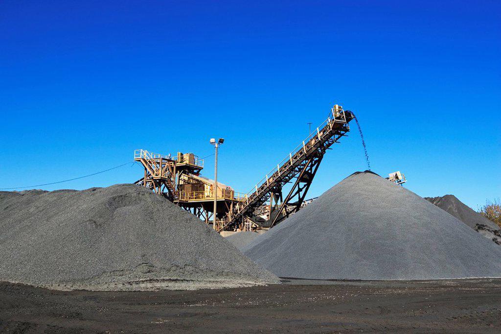 Gravel Piles : Stock Photo
