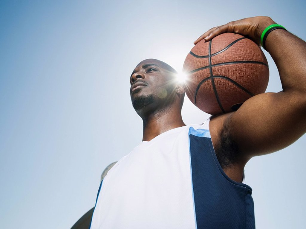 Stock Photo: 1795R-37320 Basketball player