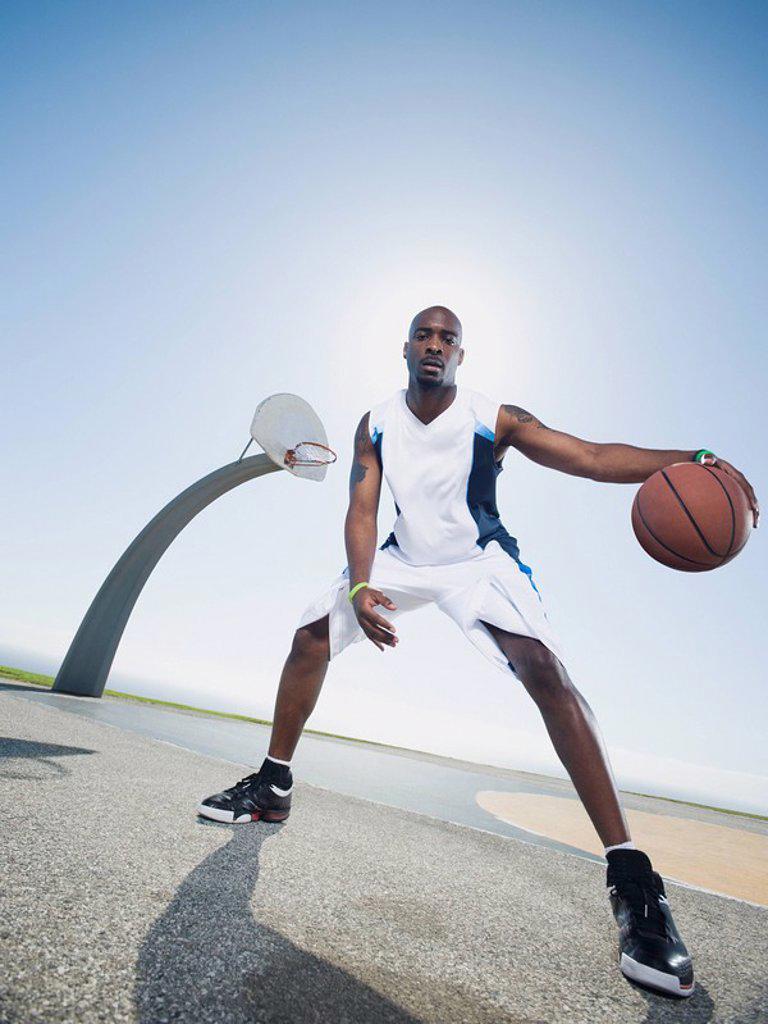 Stock Photo: 1795R-37322 Basketball player