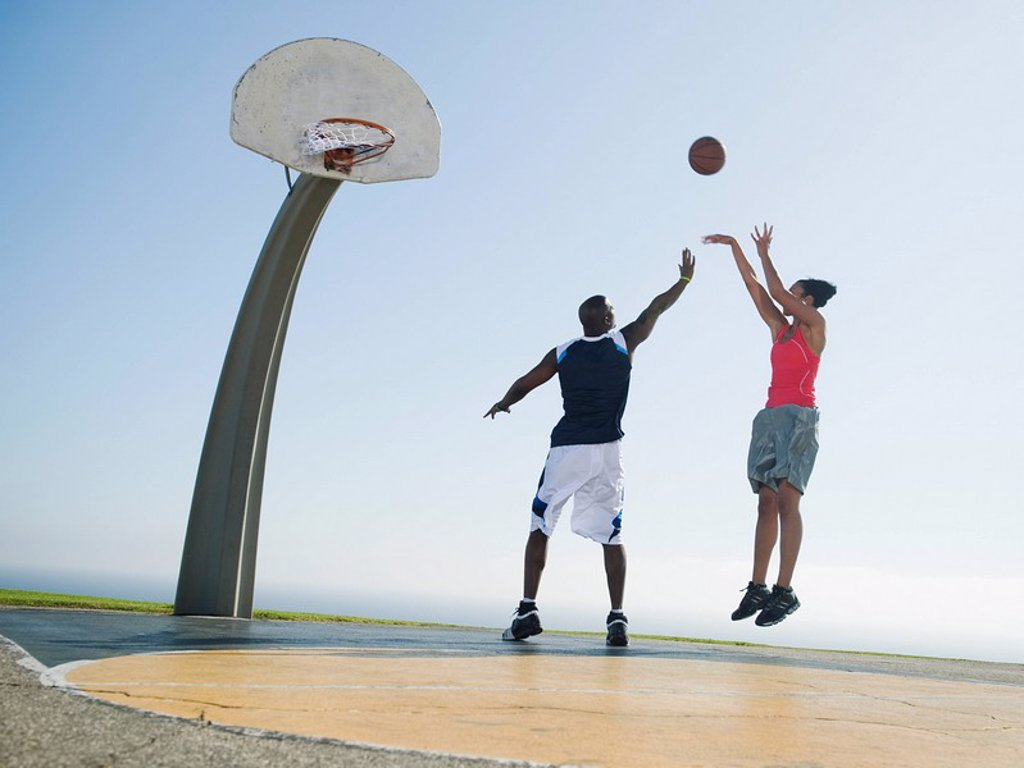 Stock Photo: 1795R-37327 Basketball players