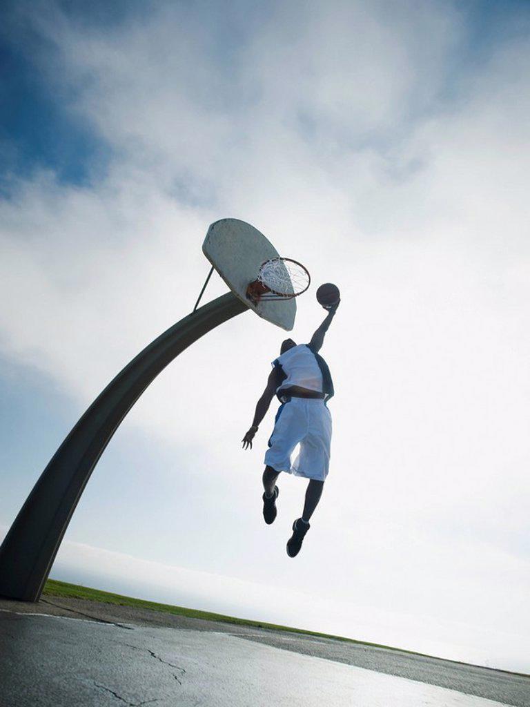 Stock Photo: 1795R-37332 Basketball player